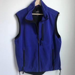 Other - LL BEAN Men's fleece vest / periwinkle blue